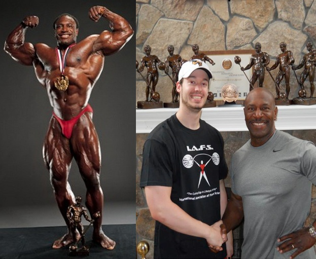 Joel with Lee Haney