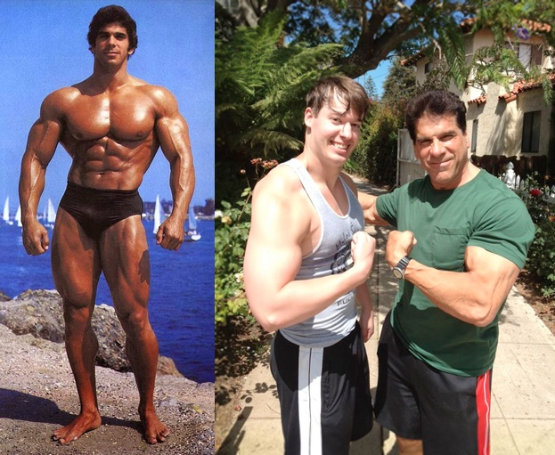 Joel with Lou Ferrigno
